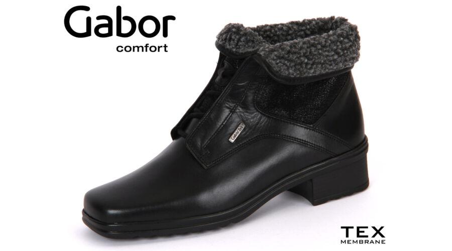 527934c750 Gabor fekete magas szárú cipő Gabor TEX - 43 - Óriás-Shop nagyméretű ...