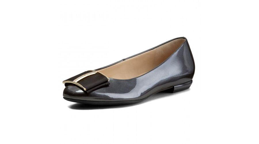Högl sötétszürke csatos balerina cipő - 42 1 2 - Óriás-Shop ... 72fa760ce6