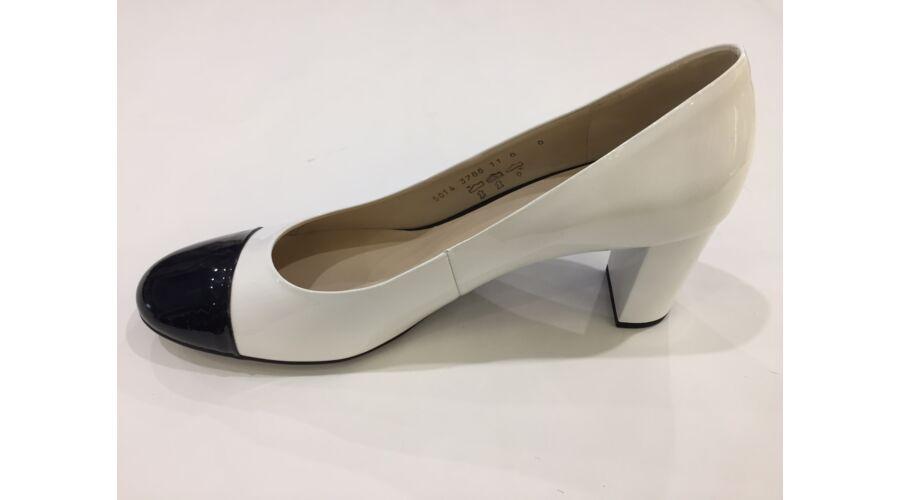Högl fehér alkalmi cipő fekete orral - 43 - Óriás-Shop nagyméretű ... f42bc3e17f