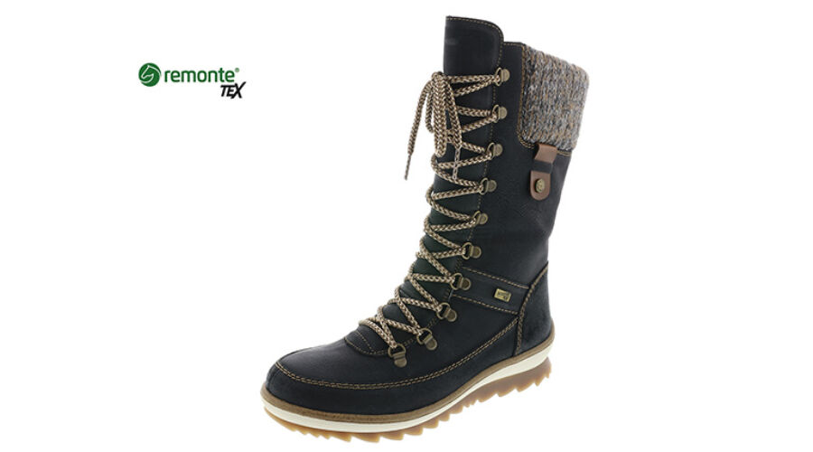 Remonte fekete hosszúszárú fűzős cipő REMONTE TEX - 43 - Óriás-Shop ... 8888985b62