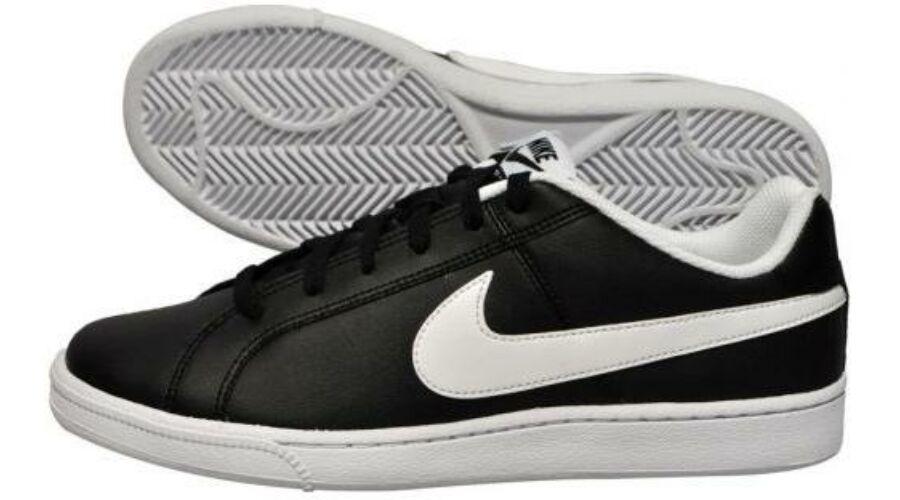 Nike Court Royale fekete bőr utcai cipő - 48 1 2 - Óriás-Shop ... f9497827cf