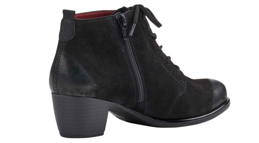 Remonte fűzős fekete női bokacipő - 43 - Óriás-Shop nagyméretű férfi ... b041126925