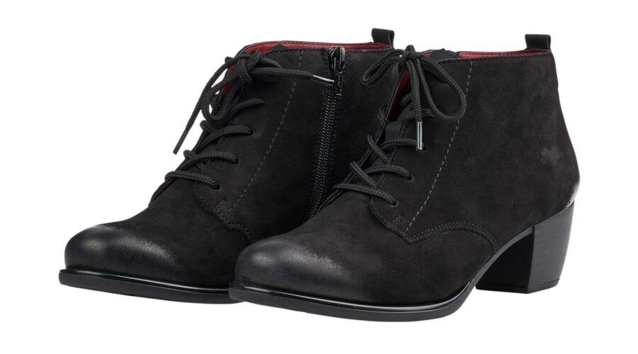 Remonte fűzős fekete női bokacipő - 44 - Óriás-Shop nagyméretű férfi ... 8c940310f8